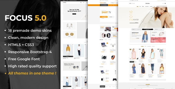 Focus - Advanced Multipurpose Responsive Prestashop 1.6 & 1.7 Theme - Shopping PrestaShop