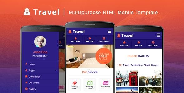 Travel - Multipurpose HTML Mobile Template - Mobile Site Templates