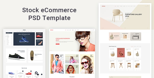 Stock - eCommerce PSD Template - Shopping Retail