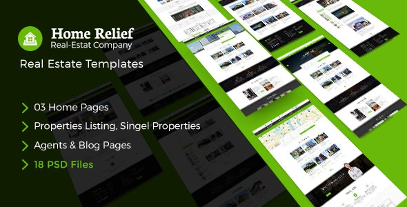Home Relife - Real Estate PSD Template - Business Corporate