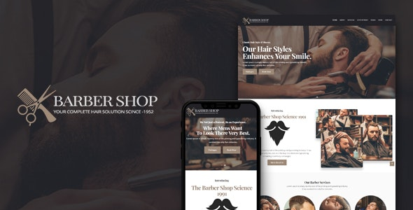 BarberShop & Hair Salon HTML Template - Health & Beauty Retail