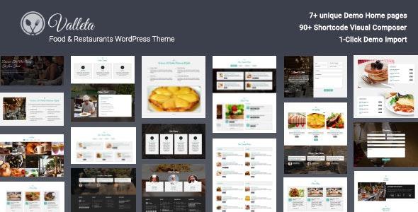 Valleta - Food & Restaurants WordPress Theme - Restaurants & Cafes Entertainment