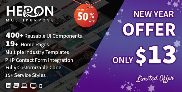 Heron - Multipurpose HTML Website Templates - Business Corporate