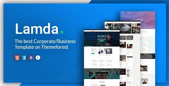 LAMDA – A Powerful & Flexible Business Template - Business Corporate
