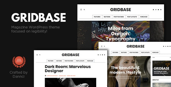 Gridbase - A News and Blog WordPress Theme - Personal Blog / Magazine