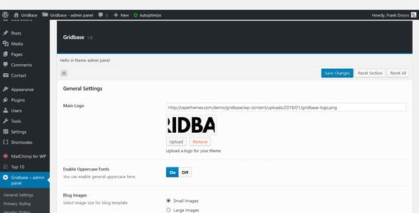 Gridbase - A News and Blog WordPress Theme