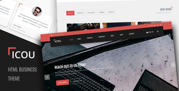 Icou - Responsive Business HTML Template - Business Corporate