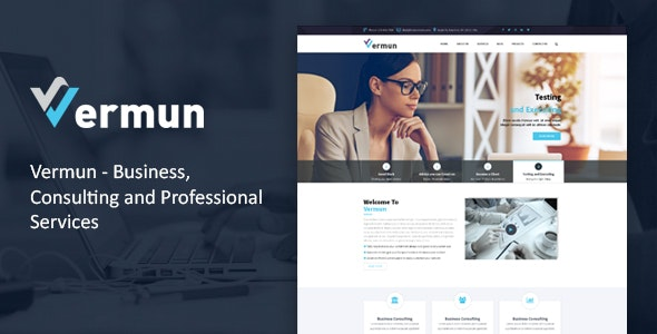 Vermun | Consulting and Business & Finance WordPress Theme - Business Corporate