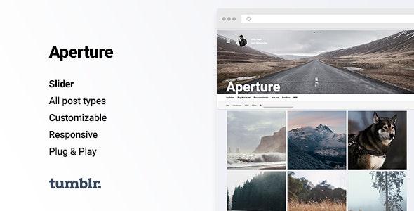 Aperture - Responsive Photography Tumblr Theme - Portfolio Tumblr