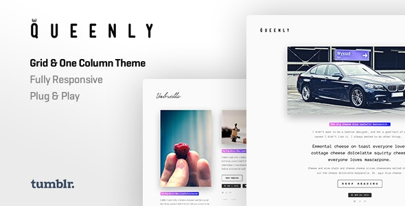 Queenly | Grid & One Column Tumblr Themes - Blog Tumblr