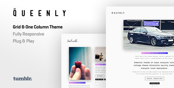 Queenly | Grid & One Column Tumblr Themes