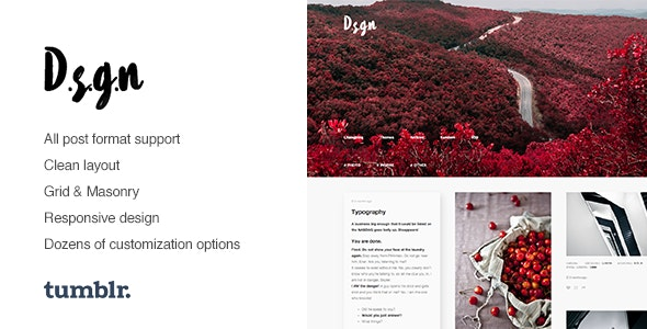 D.S.G.N | Grid-Based, Gallery Tumblr Theme - Portfolio Tumblr
