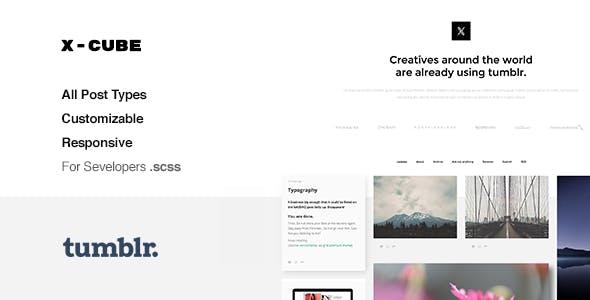 X-Cube Grid-Based Tumblr Theme