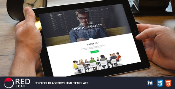 Red Leaf – Portfolio Agency HTML Template - Creative Site Templates