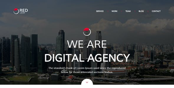 Red Leaf – Portfolio Agency HTML Template