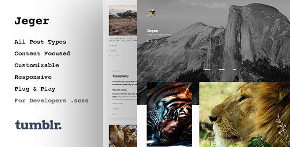 Jeger   Responsive Portfolio Tumblr Theme