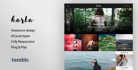 Karla - Personal Blog Theme for Tumblr