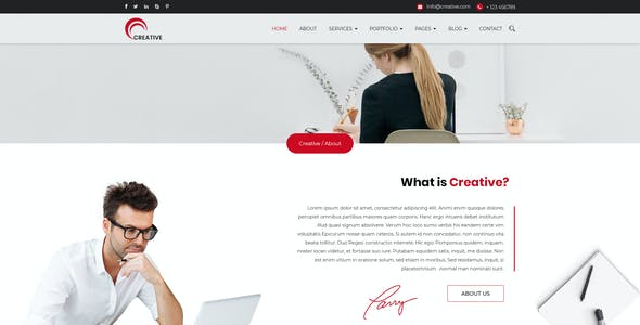 Creative - Business Based PSD Template