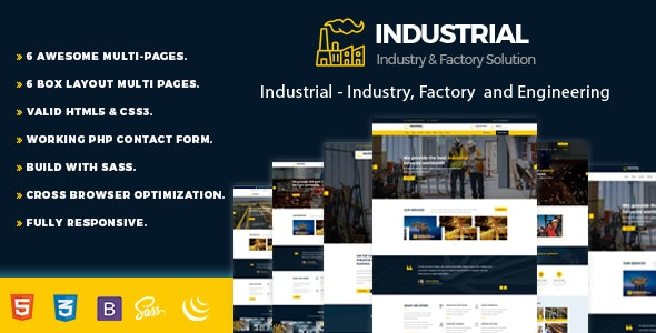 Industrial - Industry, Factory and Engineering Template - Business Corporate