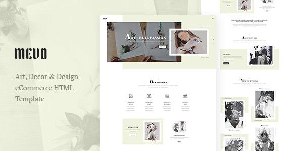 Mevo - Creative eCommerce HTML Template For Agency / Company / Studio - Creative Site Templates