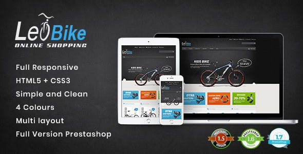 Leo Bike - Responsive PrestaShop Theme for Cycling & Vehicle Shop - Fashion PrestaShop
