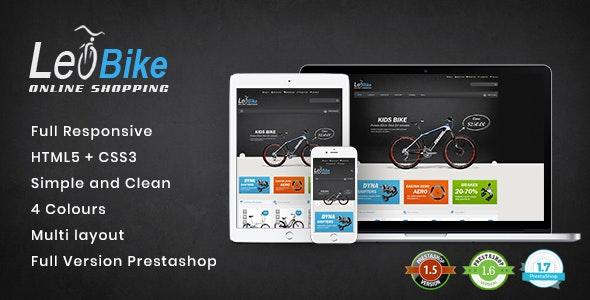 Leo Bike - Responsive PrestaShop Theme for Cycling & Vehicle Shop - Fashion PrestaShop