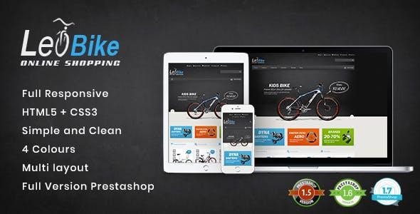 Leo Bike - Responsive PrestaShop Theme for Cycling & Vehicle Shop
