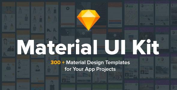 Material Design UI KIT - 300+ for Sketch - Sketch UI Templates
