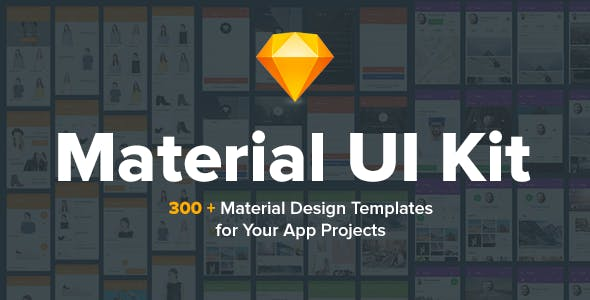 Material Design UI KIT - 300+ for Sketch