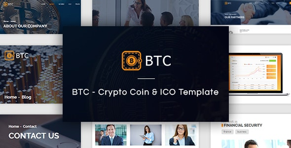 BTC - Crypto Coin & ICO Template - Corporate Site Templates