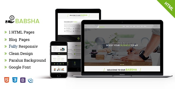 Babosha HTML Business Template - Business Corporate
