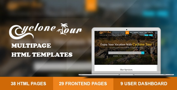 Cyclone Tour - HTML Travel Agency - Travel Retail