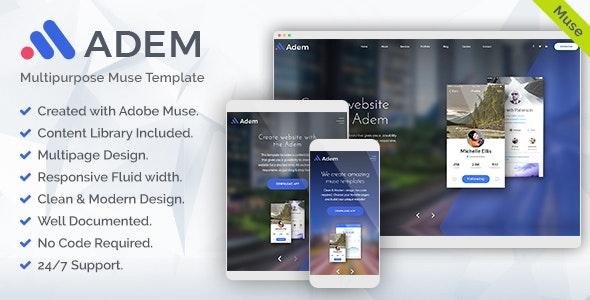 Adem - Corporate Multipurpose Muse Template - Corporate Muse Templates