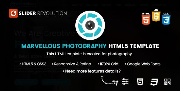 Photography HTML | Marvellous Photography Bootstrap 4 - Photography Creative