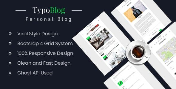 Typoblog - Personal Blog Ghost Theme - Ghost Themes Blogging