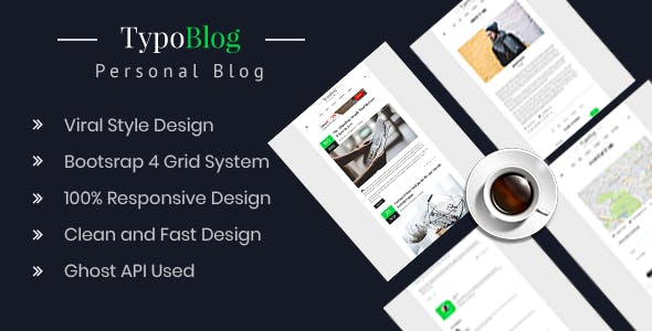 Typoblog - Personal Blog Ghost Theme