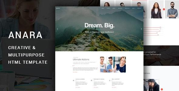 Anara -  Multipurpose Responsive HTML Template - Corporate Site Templates