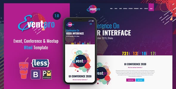 Event Pro - Conference, Event & Meetup HTML Template
