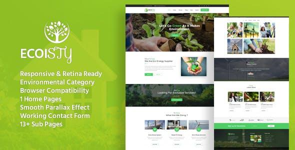 Ecoisty - Environment / Non-Profit HTML Template