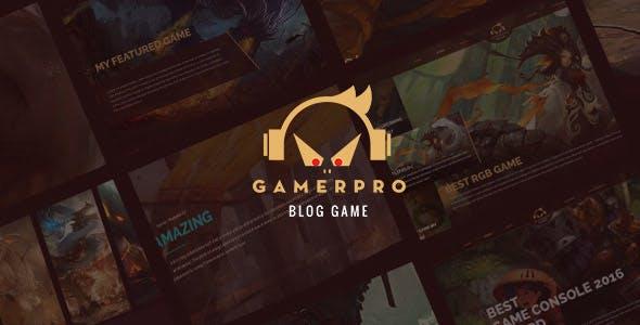 gamepro blog wordpress teması