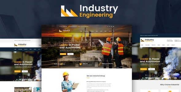 Industry Engineering – Industrial And Engineering HTML Template - Corporate Site Templates