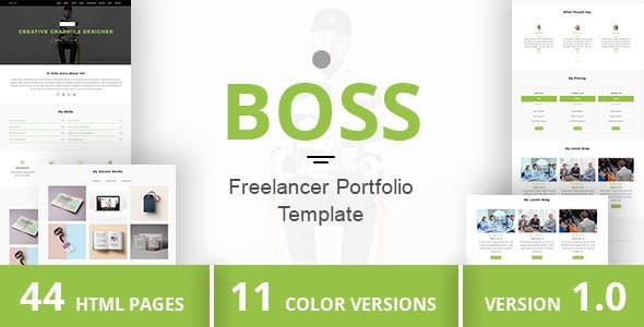 BOSS - Freelancer Portfolio Template