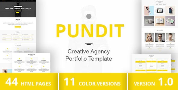 PUNDIT - Creative Agency Portfolio Template