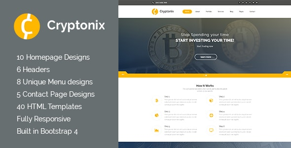 Cryptonix - Cryptocurrency & Mining HTML Template - Business Corporate