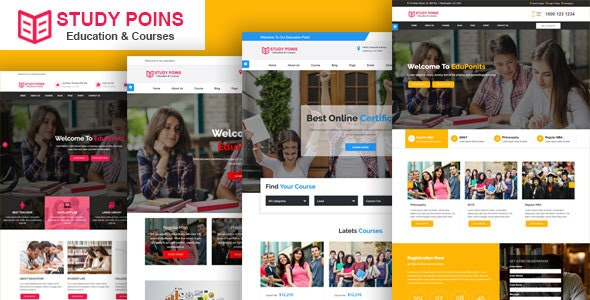Study Points - Education HTML Template - Corporate Site Templates