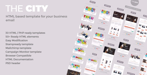 The City - Business email template - Email Templates Marketing