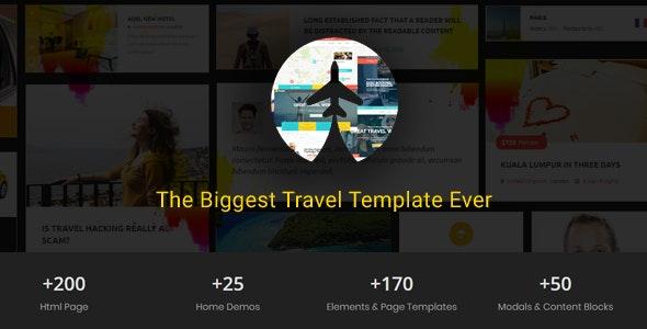 Travelz - Travel, Tour Booking ,  Hotel , Mega  HTML5 Template - Travel Retail