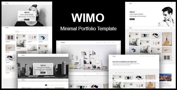 Wimo - Minimal Portfolio Template - Portfolio Creative