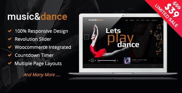 Music & Dance WordPress Theme