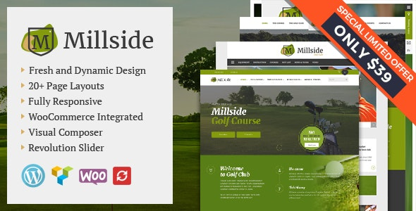 Millside - Golf and Sport WordPress theme - Corporate WordPress